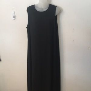 EUC EILEEN FISHER black sleeveless dress sundress
